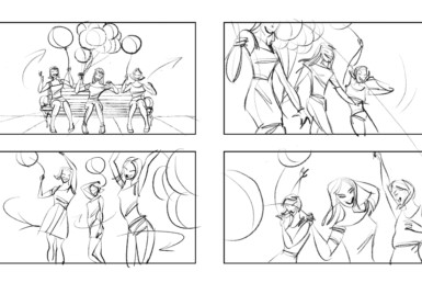 2D Onexton Advertisement Storyboard Illustration Thumbnail