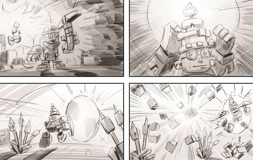 2D Skysaga Video Game Storyboard Illustration Thumbnail