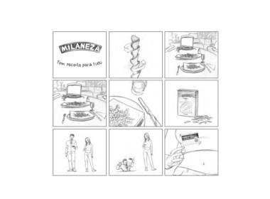 2D Supermarket Food Advertisement Storyboard Illustration Thumbnail