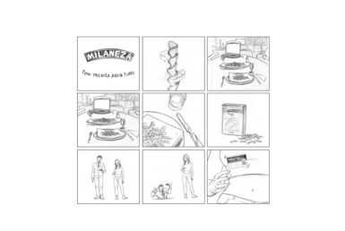 2D Supermarket Food Advertisement Storyboard Illustration Thumbnail