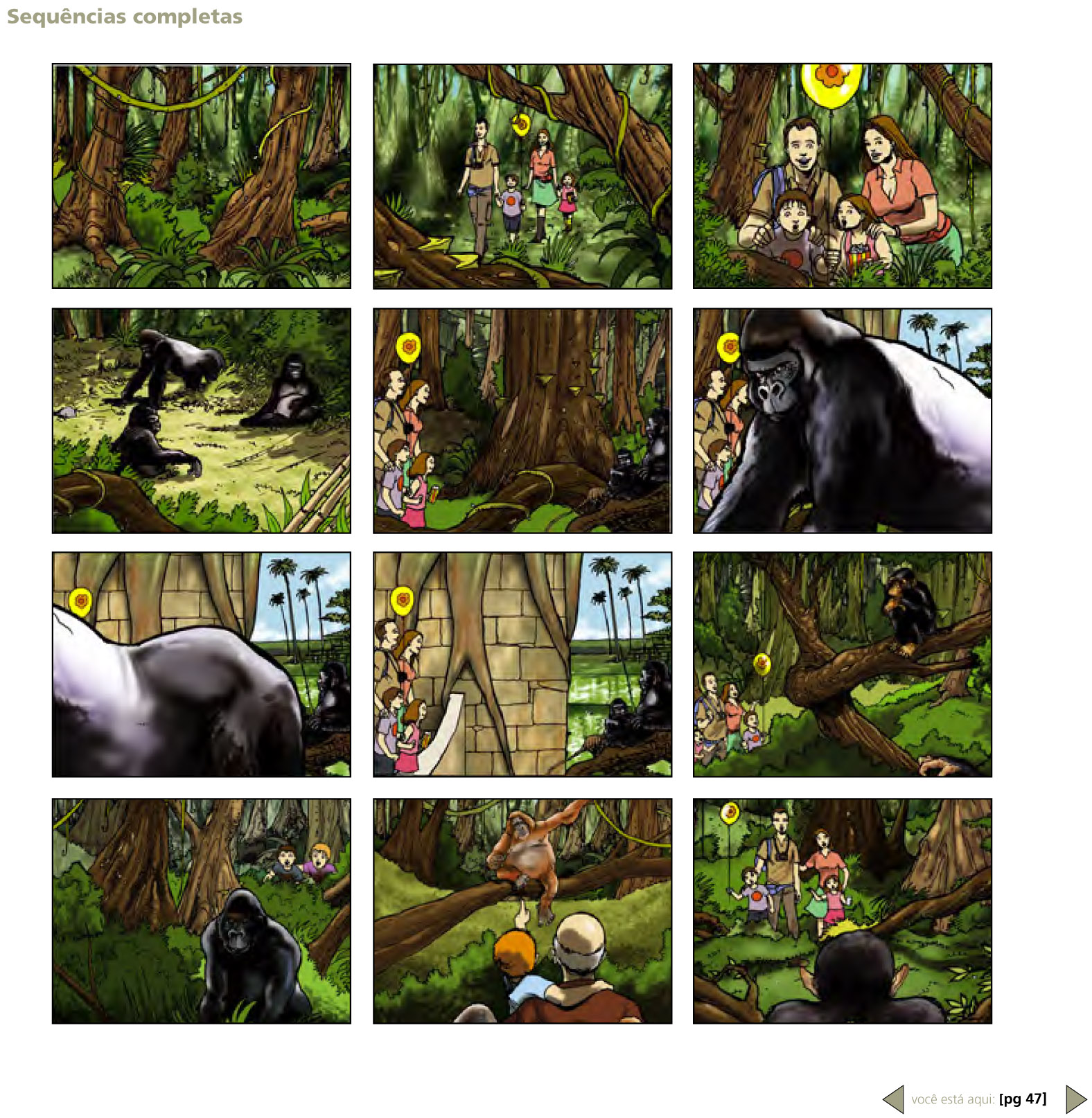 2D Wildlife Safari Advertisement Storyboard Illustration