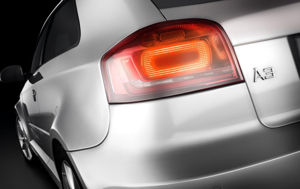 3D Audi A3 Tail Light Automotive Illustration Thumbnail