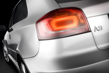 3D Audi A3 Tail Light Automotive Illustration Thumbnail