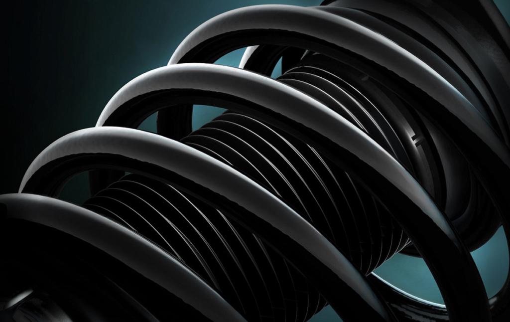 3D Car Suspension Coil Automotive Illustration Thumbnail
