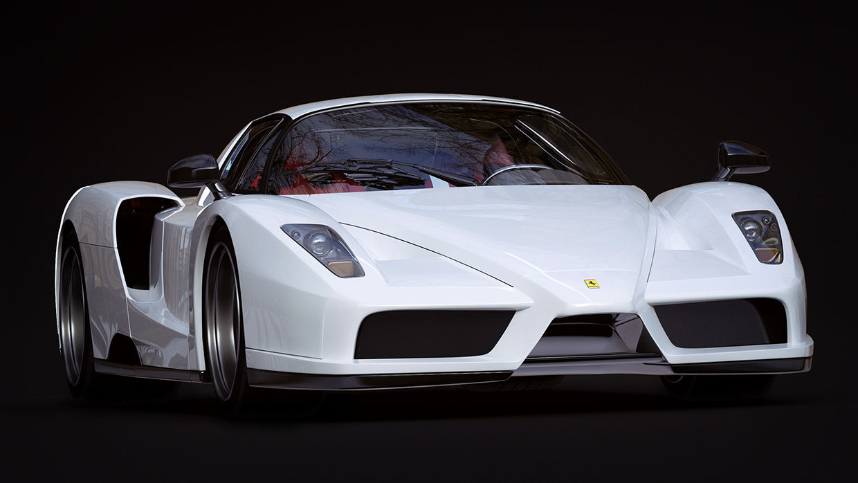 3D Ferrari Enzo Angle View Automotive Illustration