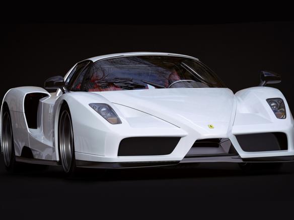 3D Ferrari Enzo Automotive Illustration Thumbnail