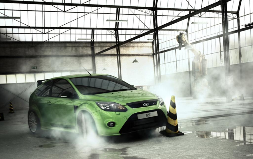 3D Ford Focus RS Automotive Illustration Thumbnail