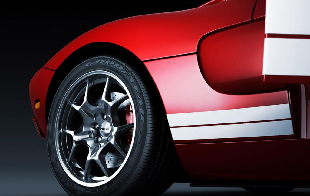 3D Ford GT Automotive Illustration Thumbnail