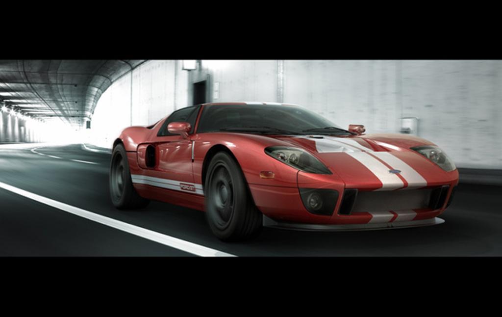 3D Ford GT Sports Car Automotive Illustration Thumbnail
