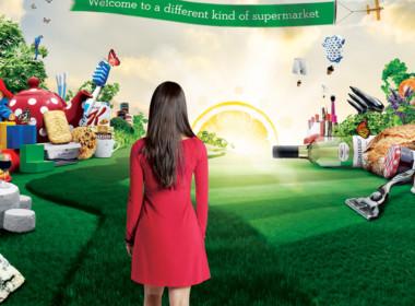 3D Ocado World of Fruit and Vegetables Advertising Illustration Thumbnail