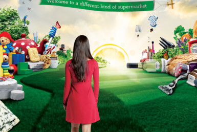 3D Ocado World of Fruit and Vegetables Advertising Illustration Thumbnail