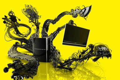 3D Playstation 3 Console Advertising Illustration Thumbnail