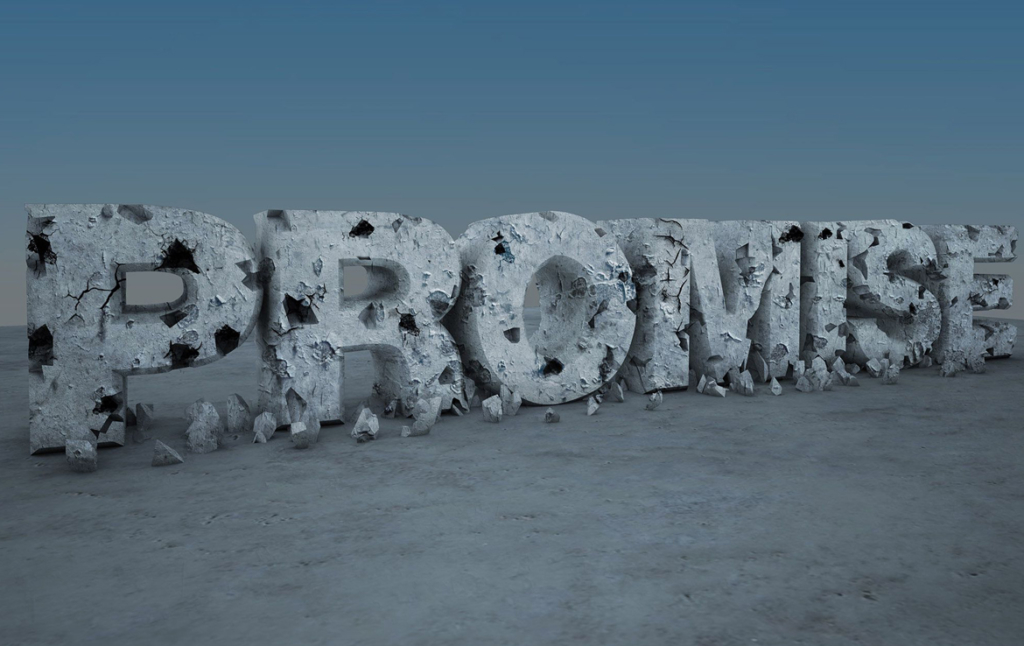 3D Promise Decaying Text Illustration Thumbnail