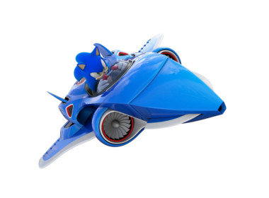 3D Sonic All Stars Jet Video Game Illustration Thumbnail