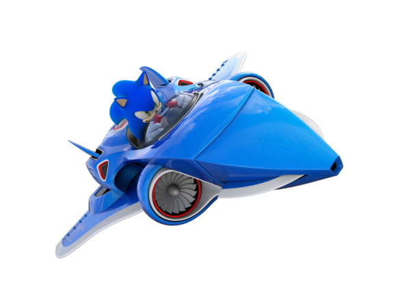 3D Sonic All Stars Jet Video Game Illustration Thumbnail