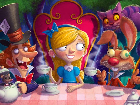 2D Alice in Wonderland Book Cover Illustration | Illustration Agency