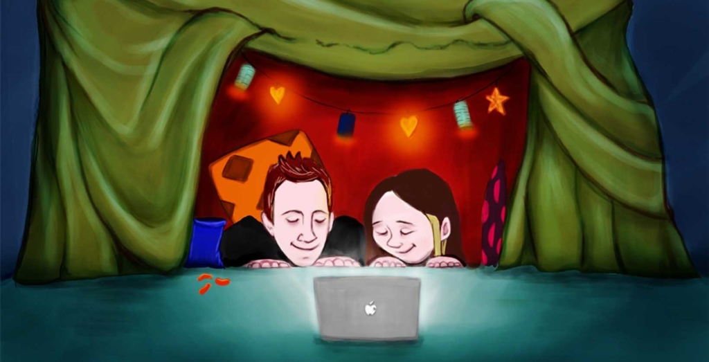 2D Camping By Apple Light Illustration Image