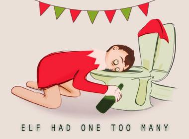 2D Elf Had One Too Many Illustration