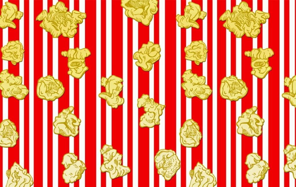 2D Graphic Digital Snack Food Popcorn Digital Illustration Image