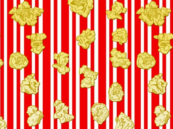 2D Graphic Digital Snack Food Popcorn Digital Illustration Image