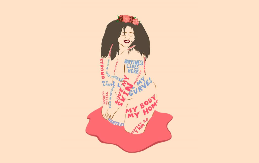 2D Love My Skin Illustration Image