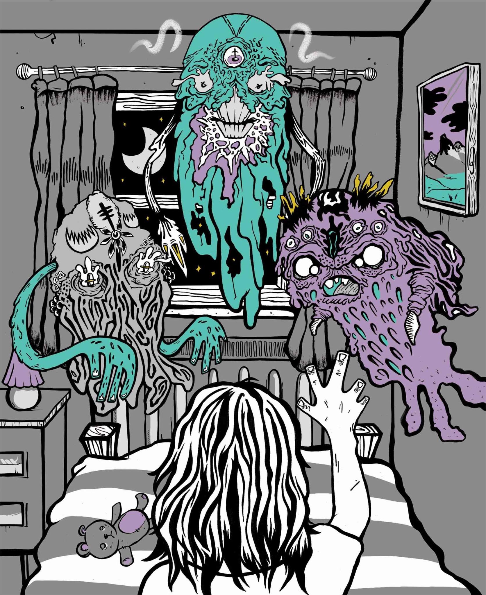 2D Lucid Dream Monsters Character Illustration