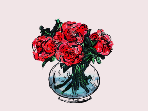 2D Rose Bowl Illustration Image