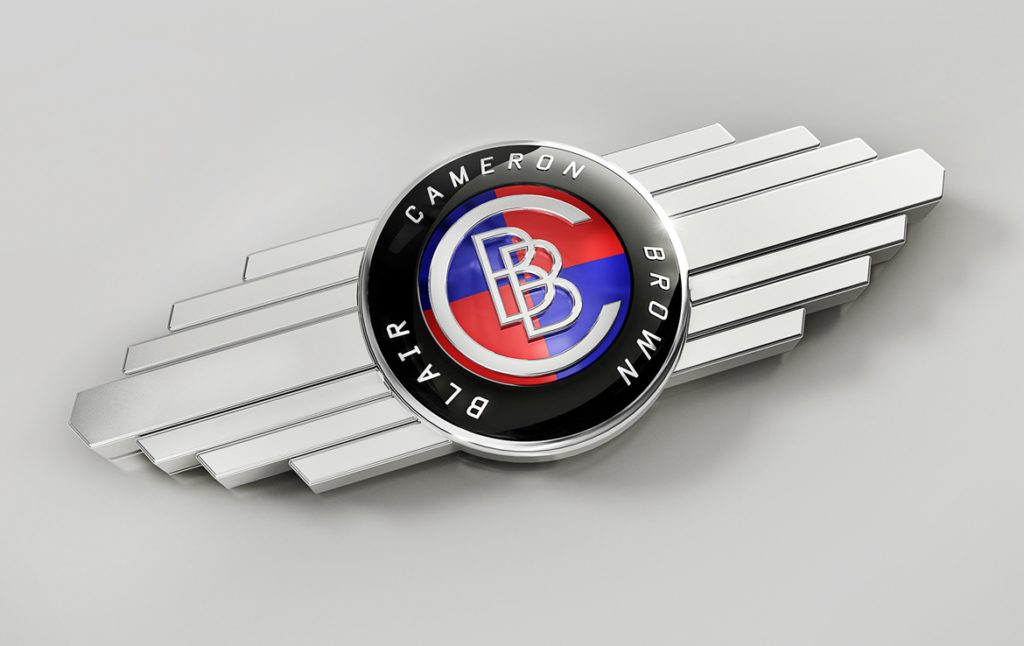 3D Blair Brown Badge Brand Illustration Thumbnail