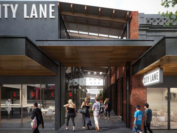 3D City Lane Market Development Architectural Illustration Thumbnail