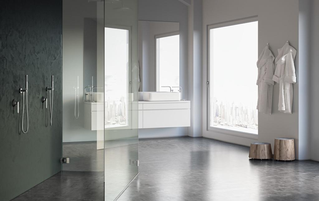 3D Contempory Modern Bathroom Interior Architectural Illustration Thumbnail