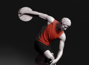 3D Discus Thrower Statue Character Illustration Thumbnail