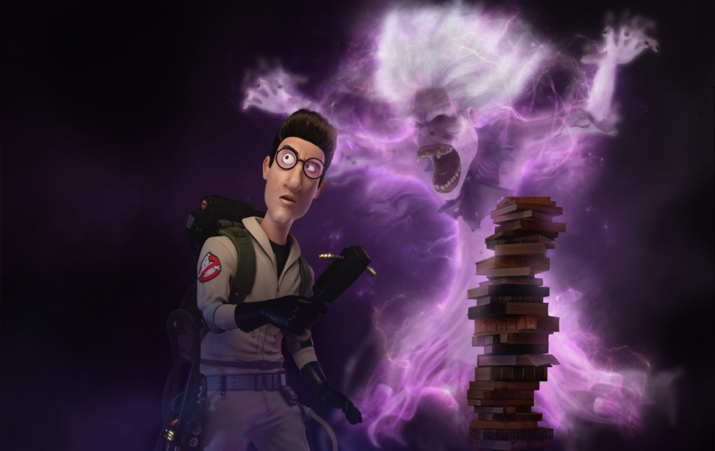 3D Egon Spengler Ghostbusters Character Illustration Thumbnail