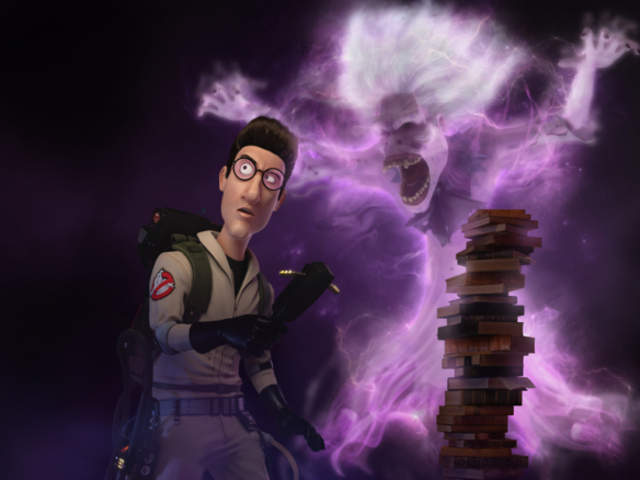 3D Egon Spengler Ghostbusters Character Illustration Thumbnail