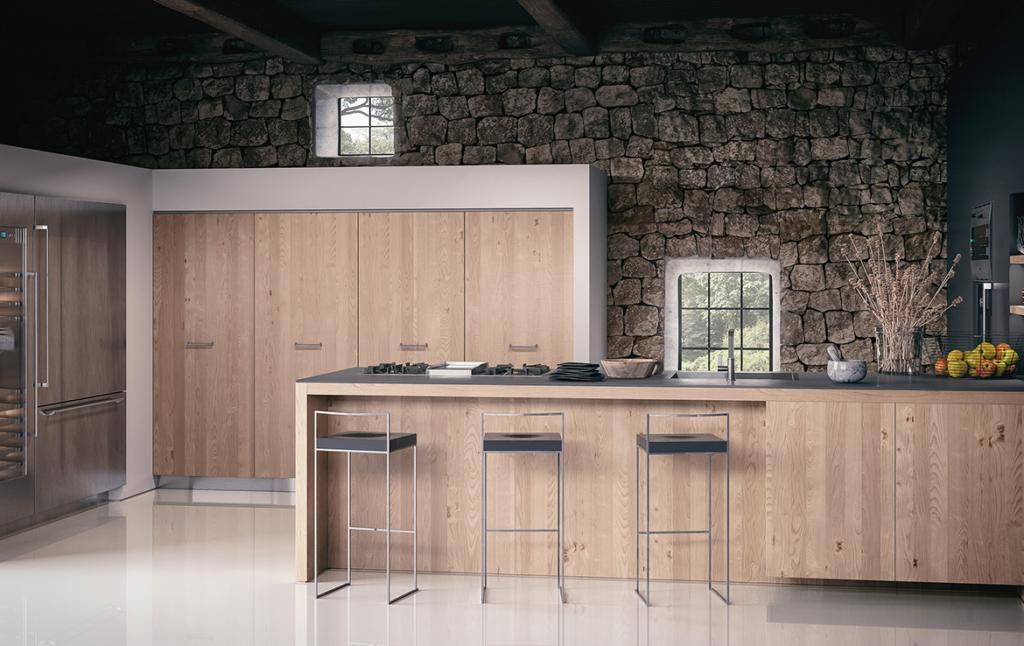 3D Farmhouse Kitchen Architectural Illustration Thumbnail