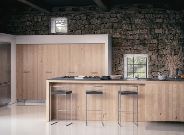 3D Farmhouse Kitchen Architectural Illustration Thumbnail