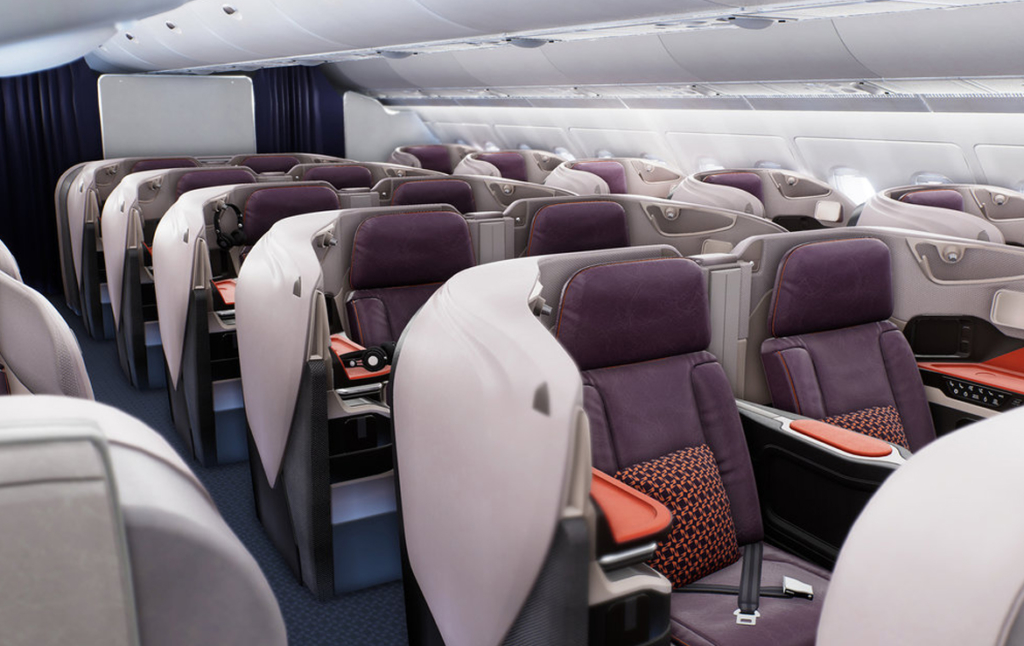 3D First Class Cabin Plane Interior Illustration Thumbnail