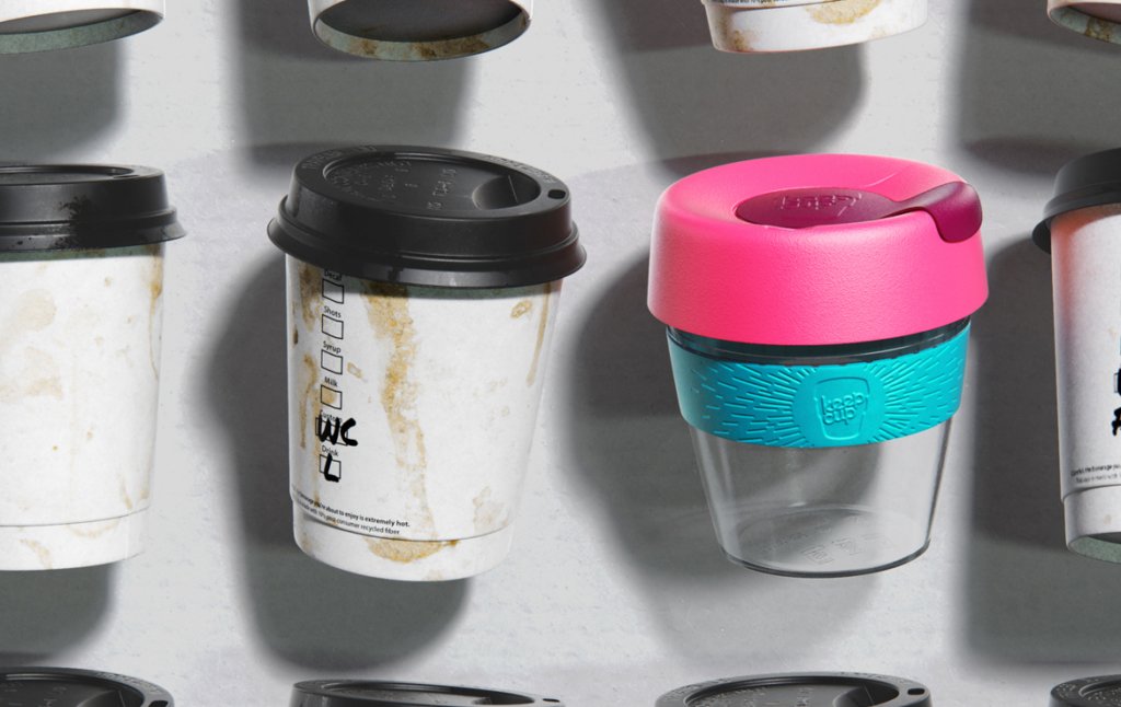3D Keep Cup Reusable Coffee Cup Product Illustration Thumbnail