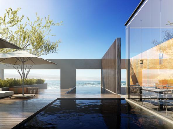 3D Luxury Restaurant Archiectural Illustration Thumbnail