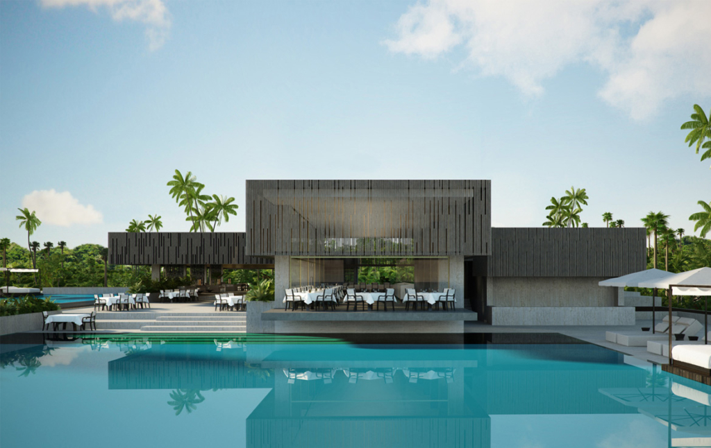 3D Luxury Spa Hotel Architectural Illustration Thumbnail