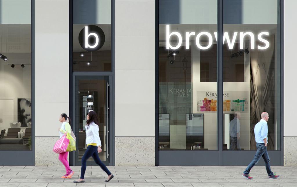3D Modern High Street Shop Front Architectural Illustration Thumbnail