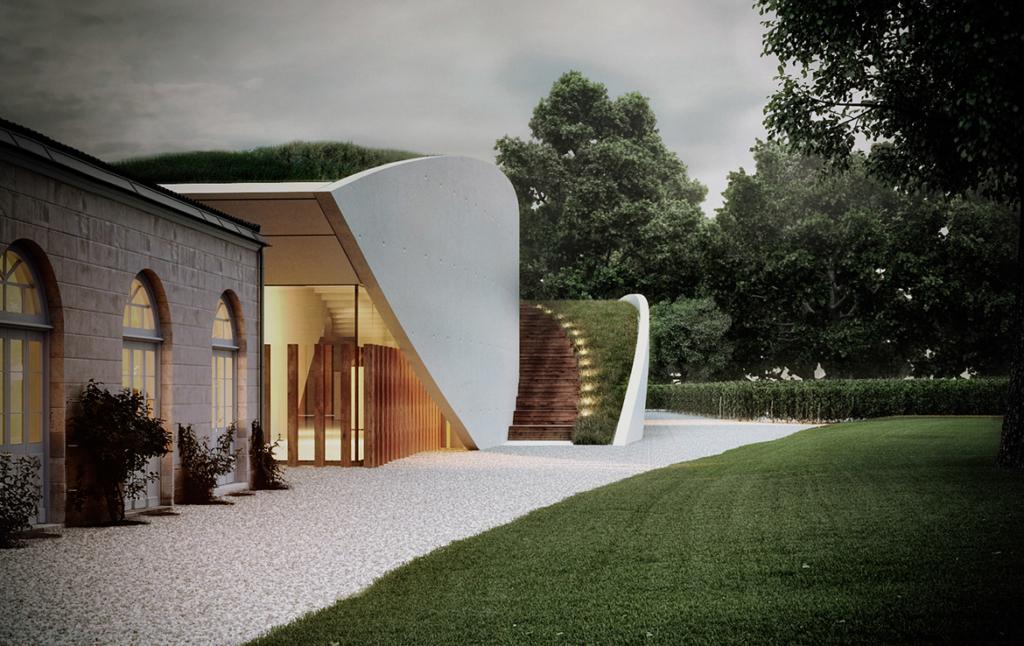 3D Modern House Exterior Architectural Illustration Thumbnail