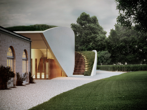 3D Modern House Exterior Architectural Illustration Thumbnail