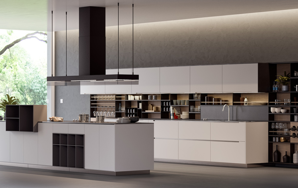 3D Modern Kitchen Interior Architectural Illustration Thumbnail