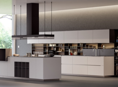 3D Modern Kitchen Interior Architectural Illustration Thumbnail