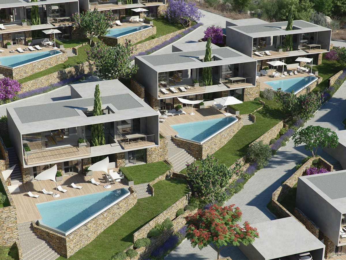 3D Modern New Builds Architectural Illustration