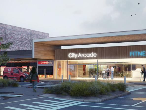 3D Modern Shopping Arcadia Architectural Illustration Thumbnail