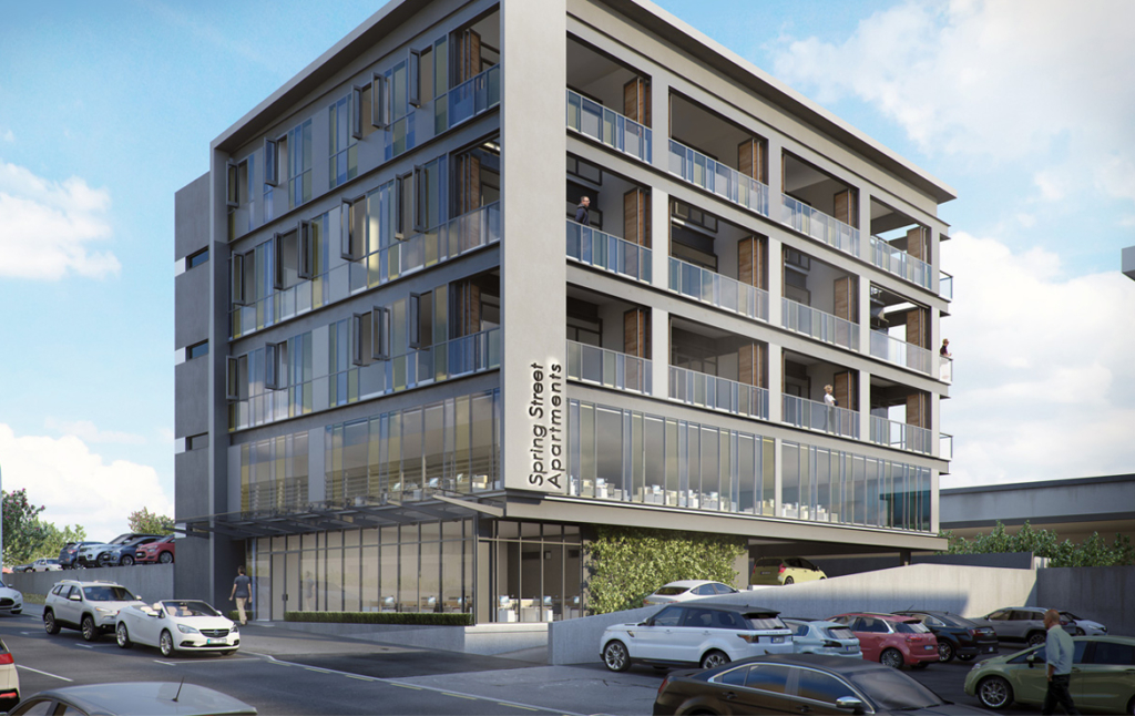 3D New Build Apartments Architectural Illustration Thumbnail