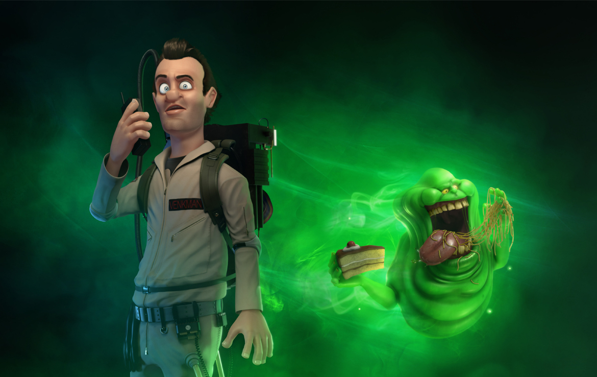 3D Peter Venkmen Ghostbusters Character Illustration Thumbnail