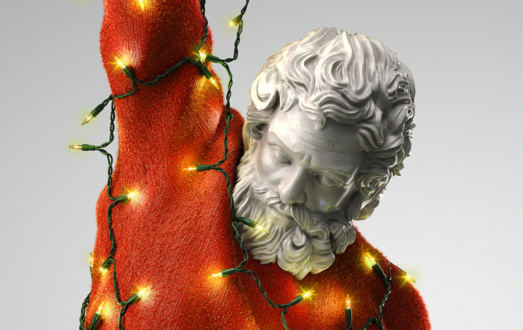 3D Samson Christmas Statue Character Illustration Thumbnail