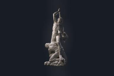 3D Samson Marble Statue Character Illustration Thumbnail
